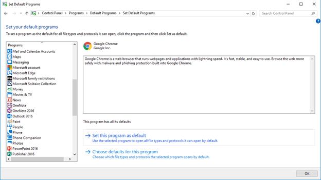 How to Set Default Programs Using Windows 10 | Run Networks